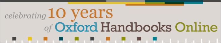 Celebrating 10 years of Oxford Handbooks Online